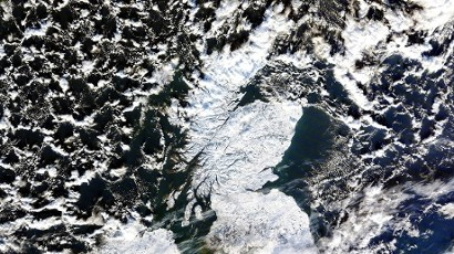 Scotland from space